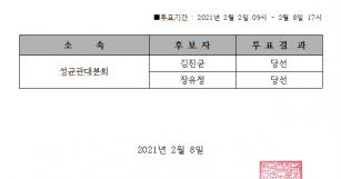 한국비정규교수노동조합 2021년 대의원 선거 투표 …